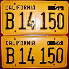 California 1956 Yellow/Black, B14 150, & '57 Tag, NEW in envelope, FREE Ship USA