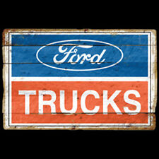 Ford Trucks Logo Vintage Sign Red White Blue Design Hot Rod Car T-Shirt Tee