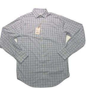 $135 Peter Millar Crown Sport Summer Comfort Long Sleeve Shirt Size XXL Plaid