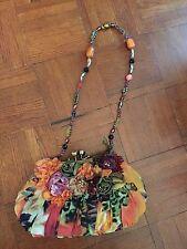 Mary Frances Rosette Mini Floral Flower Bag Handbag NWOT