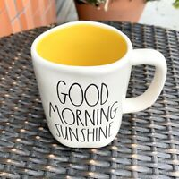 New Rae Dunn Good Morning Sunshine Mug With Yellow Interior New Release LL