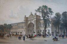 PALAIS DE L'INDUSTRIE gravure originale de 1861, PARIS DANS SA SPLENDEUR, CICERI