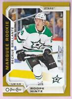 ROOPE HINTZ RC 2018-19 O-PEE-CHEE OPC GOLD MARQUEE ROOKIE #630 STARS