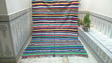Handmade Moroccan Azilal Rug Boucherouite Berber Rug Home Decorative Carpet
