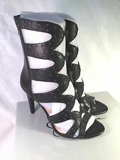 Jessica Simpson Erikka2 Black Leather High Heel Sandal Size 8 M - NEW