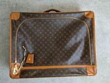 Vintage 1970s Louis Vuitton Classic Brown Monogram Print Suitcase Bag Luggage