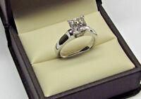 Hallmark 14k White Gold 2.00ct Princess Cut Diamond ring Engagement Wedding Ring