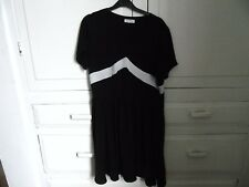 LADIES MOSS COPENHAGEN BLACK WHITE  PARTY COCKTAIL DRESS SIZE L