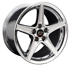 """18"""" Ford Mustang Saleen Style Rims Wheels Staggered Replacement Chrome Set of 4"""