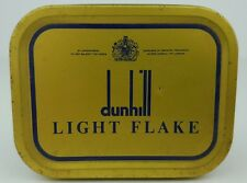 Vintage Dunhill Light Flake Pipe Tobacco Tin Container Advertisement England