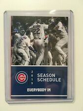 Chicago Cubs Baseball Vintage Sports Schedules For Sale Ebay