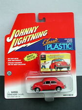 Johnny Lightning Classic Plastic VW Beetle w/ Model Kit Box MIB