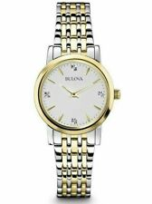 Bulova 98P115 Women's Diamond Accent Silver Dial Two-Tone Stainless Steel Watch