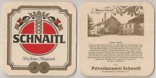 """Schnaitl Bier, Gundertshausen - alter Bierdeckel """"Brauerei Schnaitl"""""""