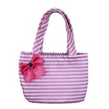 Fashion Dolls Accessories Pink Striped Bag for 18inch American Girl Doll