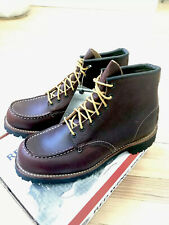 "NEW Red Wing 4183 Heritage Men's Size 8D BROWN Moc Toe 6"" Leather Boots Lug Sole"