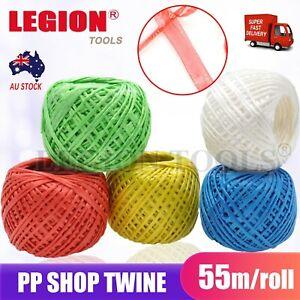 Plastic Twine Polypropylene Shop Twine Balls Craft String MIX Colours 2mm 55m