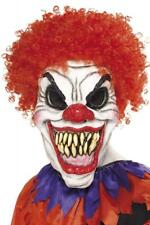 Smiffys Men's Scary Clown Mask One Size, White & Red