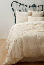 Nip Anthropologie Solea French Country Twin Bedskirt Cotton Voile Cream