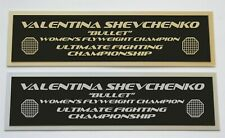 Valentina Shevchenko UFC nameplate for signed mma gloves photo or case