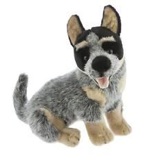 "Australian Cattle Pet Dog Sitting Blue Heeler Soft Plush Toy Stuffed Animal 11""/"