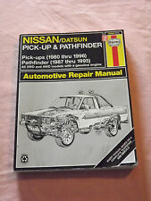 VINTAGE OLD CARS 1996 HAYNES AUTOMOTIVE REPAIR MANUAL NISSAN DATSUN PICK UP PATH