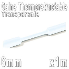Gaine Thermo Rétractable 2:1 - Diam. 6 mm - Transparente - 1m