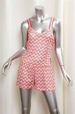 MISSONI MARE Womens Casual Coral Rayon Knit Sleeveless Short Romper 42/6 NEW