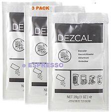 URNEX DEZCAL COFFEE MAKER & ESPRESSO DESCALER - 3 PACK