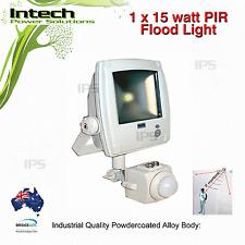 LED PIR Flood Light Alloy 15W Motion Sensor Security Outdoor garden light