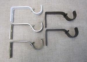 "Urbanest Metal Curtain Drapery Rod Non-Adjustable Brackets for 1 1/8"" Drape Rod"