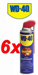 Lot de 6 LUBRIFIANT DÉGRIPPANT WD-40 SYSTÉME PRO 500 ML
