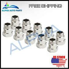 10X O2 SENSOR BUNG M18 X 1.5 TEST PIPE OXYGEN EXTENSION EXTENDER ADAPTER SPACER