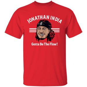 Men's #23 Jonathan India Gotta Be The Flow Cincinnati Reds Baseball T-shirt