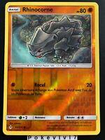 Carte Pokemon RHINOCORNE 92/214 REVERSE Soleil et Lune 10 SL10 FR NEUF