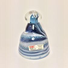 Art Glass Cobalt Swirl DANSK GLASKUNST Dome Paperweight Ulrike & John Poulsen