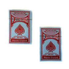 1 Deck of Professional Plastic Coated Playing Cards Poker Size Red or Blue