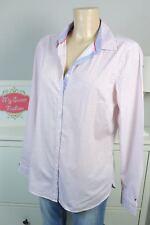 TOMMY HILFIGER Bluse Hemd Blau Rot Weiß Gr. US 12 DE 42 (BI157)