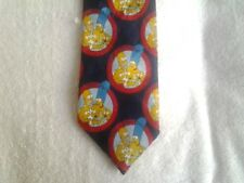 Tie Novelty Cartoon The Simpsons Family Circles Repeat Pattern