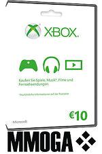 Microsoft XBOX Live 10 Euro Card-MS Xbox 360 & ONE 10 € de crédits carte [UE]-