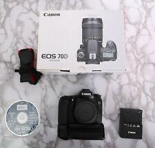 Canon EOS 70D 20.2MP Digital SLR Camera w GRIP - 14886 Shutter Count