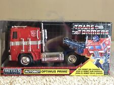 🇺🇸Transformers Metals Die Cast Autobot G1 OPTIMUS PRIME 1/32 Vehicle Jada New