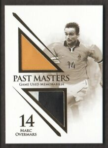 2018 Futera World Unique Soccer Past Masters JERSEY #PM17 Marc Overmars 22/38