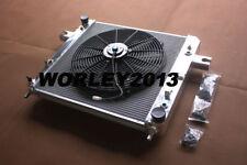 Aluminum radiator + fan for Jeep Cherokee KJ 3.7 V6 2001-2008
