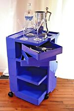 JOE COLOMBO BOBY TROLLEY ORGANIZER B33 RARE INDIGO Ltd ED B-LINE made in Italy