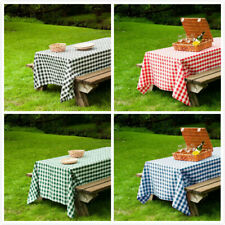 60x102 in. Rect Polyester Tablecloth Gingham Checkered Party Picnic Restaurant