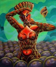 """ANSESTROS #3"" Original Art Painting Cuban Cuba Artist LEONARDO RUBIO BRIDON"