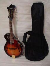 Free Gig Bag Hand Carved Solid Spruce Top F Style Mandolin, Sunburst