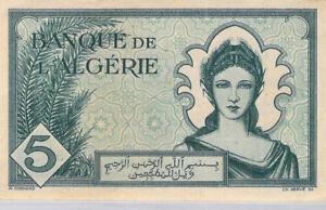 Algérie 5 Francs 16.12.1942 N.531 n°826 Pick 91