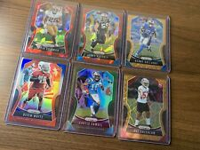 2019 Prizm Football Refractor Rookies+Stars 6 Card Lot RWB, Laser, Green,Red Ice